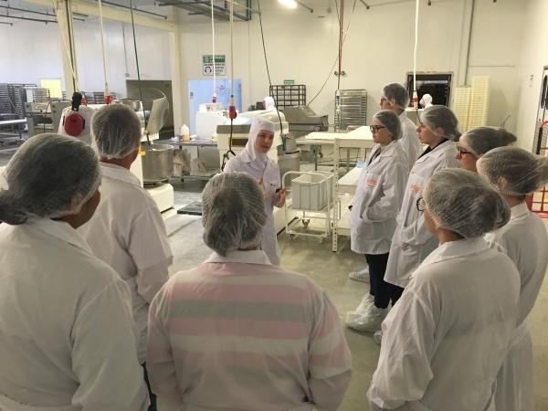 Colaboradores do setor administrativo da Dipães realizam visita técnica à fábrica