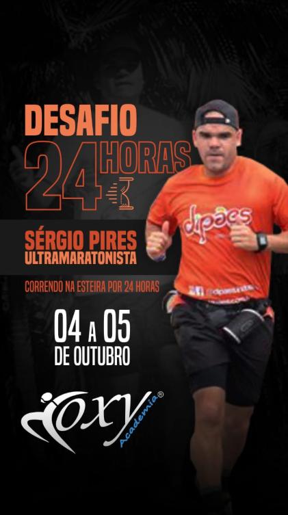 Ultramaratonista patrocinado pela Dipães percorreu mais de 150 km dentro de 24h numa Esteira